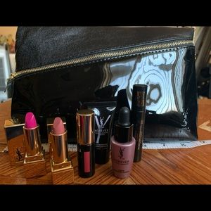 YSL 7 pc travel size gift set bag included.